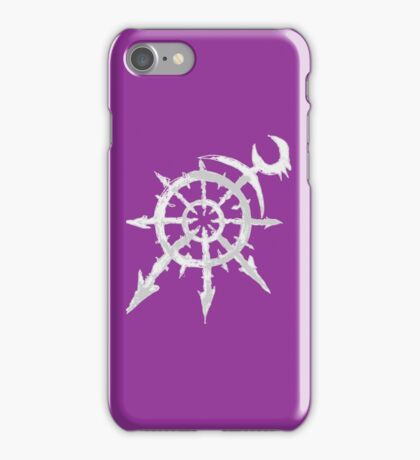 Mark of Chaos - Slaanesh (white) iPhone Case/Skin