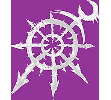 Mark of Chaos - Slaanesh (white) Photographic Print