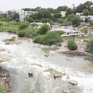 Musi River Hyderabad by Andrew  Makowiecki