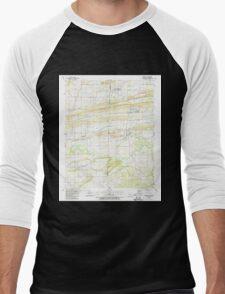 USGS TOPO Map Arkansas AR Hackett 258641 1987 24000 Men's Baseball ¾ T-Shirt