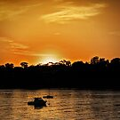 Sun Setting at Point Walter Reserve, W.A. by Sandra Chung