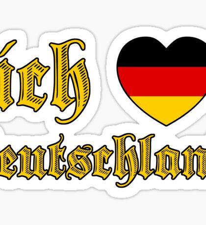 Classic Ich Liebe Deutschland I Love Germany Sticker