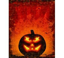 Halloween Pumpkin Photographic Print
