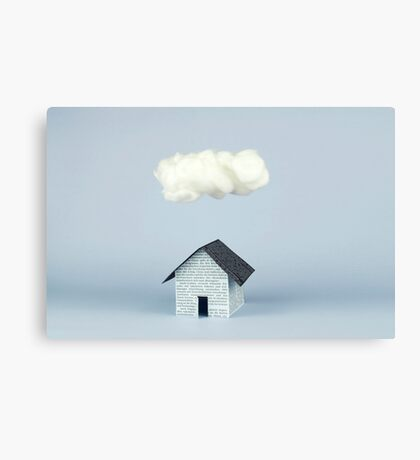 A cloud over the house Canvas Print