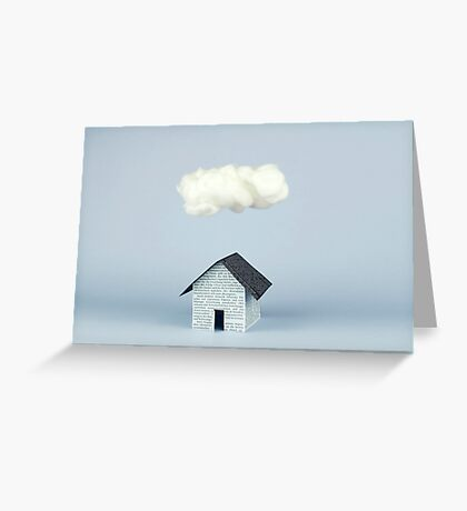 A cloud over the house Greeting Card