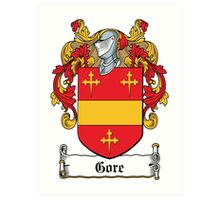 Gore Coat of Arms (Donegal, Ireland) Art Print