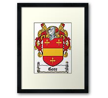 Gore Coat of Arms (Donegal, Ireland) Framed Print
