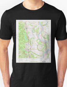 USGS TOPO Map Arkansas AR Woodson 259911 1954 24000 Unisex T-Shirt