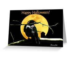 Full Moon Shining ~ Black Crow Greeting Card