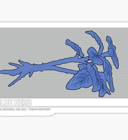 Resident Evil Blue Herb Sticker