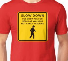 Regular Walking Caution Sign Unisex T-Shirt
