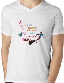 Never Grow Up Nebula Galaxy  Mens V-Neck T-Shirt