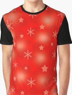 Red Xmas design Graphic T-Shirt