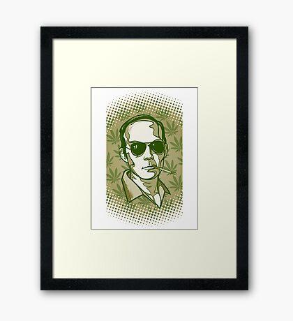 Hunter S. Thompson 420 Framed Print