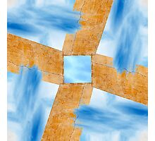 Abstract Wall and Sky Photographic Print