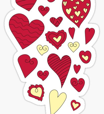 Love pattern. Valentine's Day Sticker