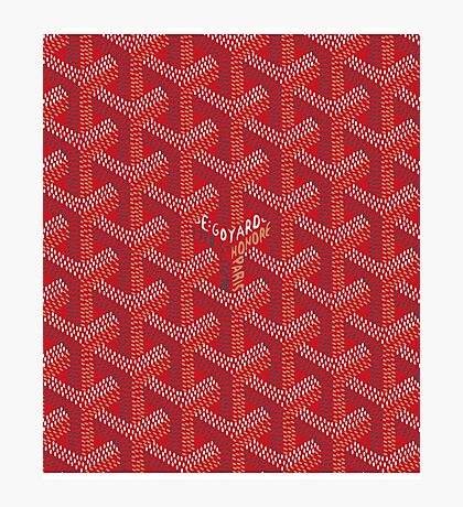 goyard phone case red Photographic Print