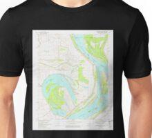 USGS TOPO Map Arkansas AR Horseshoe Lake 258762 1981 24000 Unisex T-Shirt