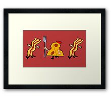 Cheese Parade Framed Print