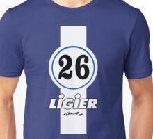 LIGIER F1 TEAM - CLASSIC N°26 (1976-1980) Unisex T-Shirt