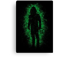 The Green Hood Canvas Print