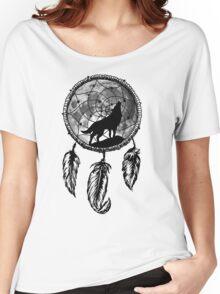 Moon Wolf Dream Catcher Women's Relaxed Fit T-Shirt