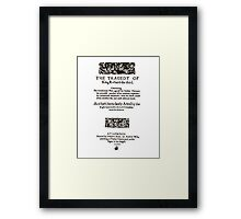 Shakespeare Richard III Frontpiece - Simple Black Version Framed Print