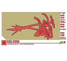 Resident Evil Red Herb Photographic Print