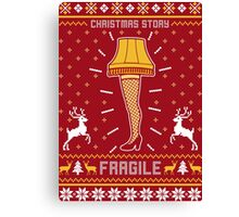 Christmas Story Fragile Ugly Sweater Canvas Print