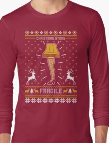 Christmas Story Fragile Ugly Sweater Long Sleeve T-Shirt
