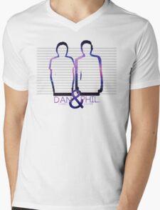 Dan Howell & Phil Lester Galaxy Outline Mens V-Neck T-Shirt
