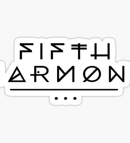 Fifth Harmony Official 7/27 Merch #2 ( Black Text ) Sticker