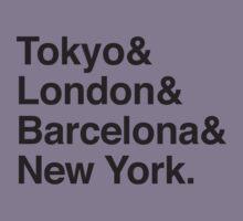 TOKYO & LONDON & BARCELONA & NEW YORK. Kids Tee