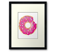 Pink Molly Donut Framed Print