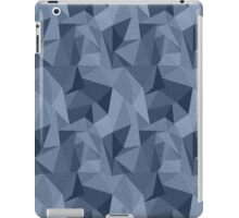 Blue Geometric Triangles iPad Case/Skin