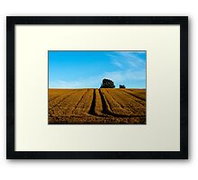 Tree and Lines Framed Print