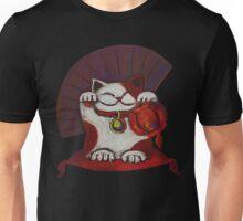 White Maneki neko with red Japanese traditional lantern Unisex T-Shirt