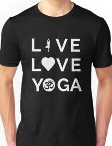 Live Love Yoga - Yoga Quotes Unisex T-Shirt