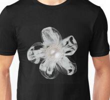 White tool flower on black Unisex T-Shirt