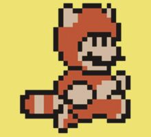 Tanooki Suit Mario - Super mario land 3 8 bit Kids Clothes