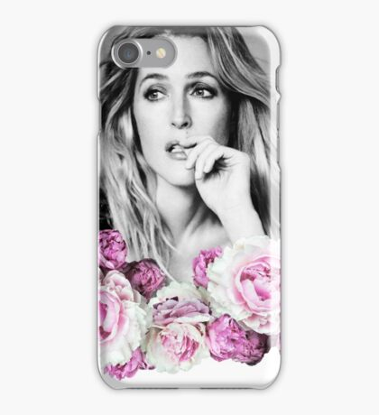 Gillian Anderson - Flower Queen iPhone Case/Skin