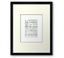 Be A Superhero Framed Print