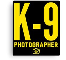 K-9 Photographer Canvas Print
