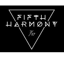 Fifth Harmony Official 7/27 Merch #3 ( White Text ) Photographic Print