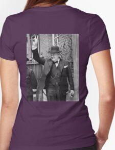 Winston, Churchill, British prime minister, V sign, Victory, 1943, WWII Womens Fitted T-Shirt