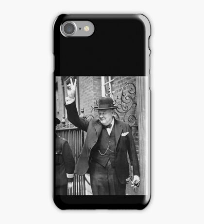 Winston, Churchill, British prime minister, V sign, Victory, 1943, WWII iPhone Case/Skin