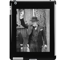Winston, Churchill, British prime minister, V sign, Victory, 1943, WWII iPad Case/Skin