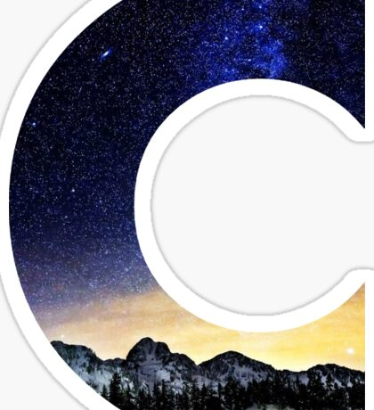 C Star Night Sticker