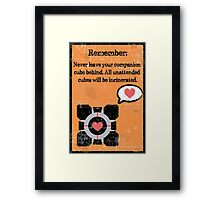 Never Leave you Companion Behind Framed Print