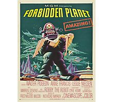 Vintage poster - Forbidden Planet Photographic Print